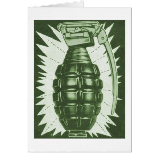 Kitsch Vintage 'Actual Hand Grenade' Comic Ad Card