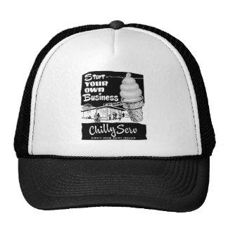Kitsch Vintage Ad Chilly Serv Ice Cream Trucker Hat