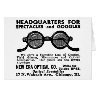 Kitsch Vintage Ad Googles and Eyewear Glasses Card