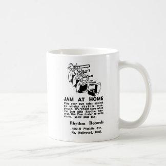 Kitsch Vintage Ad Jam at Home Jazz Coffee Mug