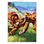Kitsch Vintage Adventure 'Ram vs Man' Card