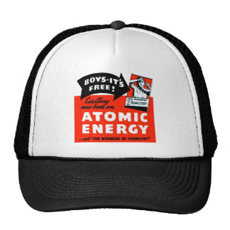 Kitsch Vintage Atomic Energy For Kids! Hats
