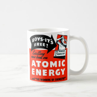 Kitsch Vintage Atomic Energy For Kids! Classic White Coffee Mug