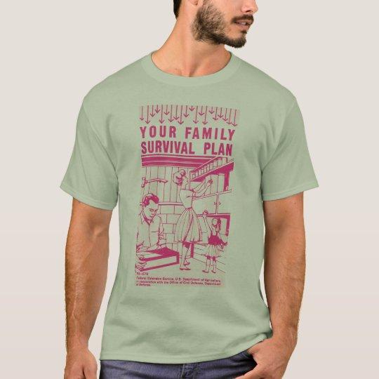 Kitsch Vintage Atomic Your Family Survival Plan T-Shirt