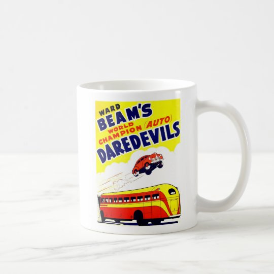 Kitsch Vintage Auto Daredevils Coffee Mug