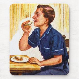 Kitsch Vintage Bacon Sarnie Sandwich Mouse Pad