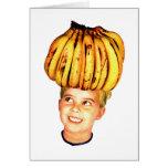 Kitsch Vintage Bananas Ad 'Banana Head girl' Cards