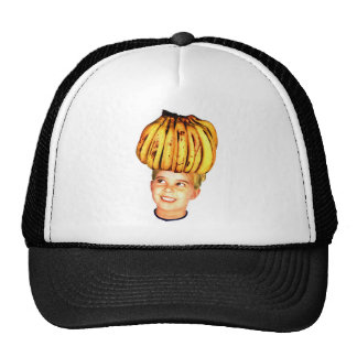 Kitsch Vintage Bananas Ad 'Banana Head girl' Trucker Hat