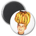 Kitsch Vintage Bananas Ad 'Banana Head girl' Fridge Magnets