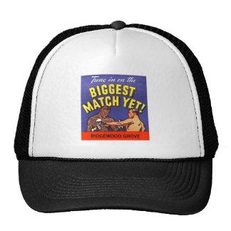 Kitsch Vintage Boxing Biggest Match Matchbook Art Trucker Hat