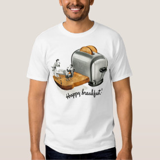Kitsch Vintage Breakfast toast 'Happy Breakfast' Shirt