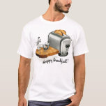 Kitsch Vintage Breakfast toast 'Happy Breakfast' T-Shirt
