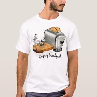 Kitsch Vintage Breakfast toast 'Happy Breakfast' T-Shirt