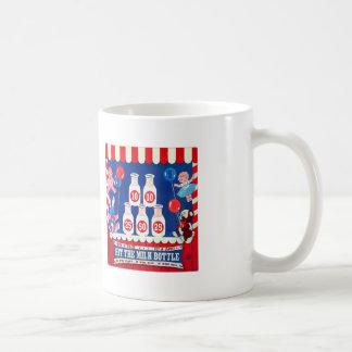 Kitsch Vintage Carnival Game Hit The Milk Bottle Coffee Mug