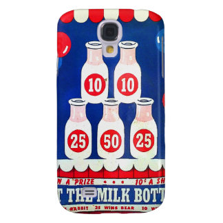 Kitsch Vintage Carnival Game Hit The Milk Bottle Galaxy S4 Cover