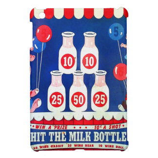 Kitsch Vintage Carnival Game Hit The Milk Bottle iPad Mini Covers