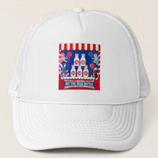 Kitsch Vintage Carnival Game Hit The Milk Bottle Trucker Hat