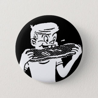 Kitsch Vintage 'Chomping Kid' Ribs BBQ Eating Button