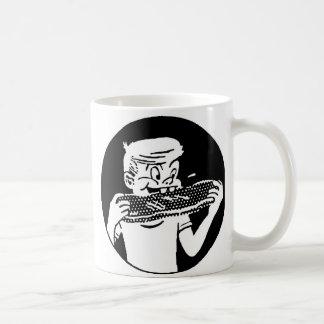 Kitsch Vintage 'Chomping Kid' Ribs BBQ Eating Coffee Mug