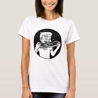 Kitsch Vintage 'Chomping Kid' Ribs BBQ Eating T-Shirt