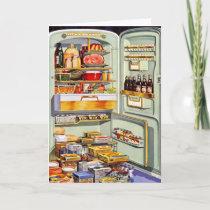 Kitsch Vintage Classic Refrigerator 'Full Fridge'