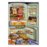 Kitsch Vintage Classic Refrigerator 'Full Fridge' Card