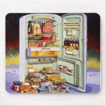 Kitsch Vintage Classic Refrigerator 'Full Fridge' Mouse Pads