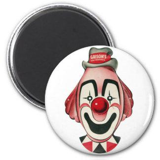 Kitsch Vintage Clown Face, Mask 2 Inch Round Magnet
