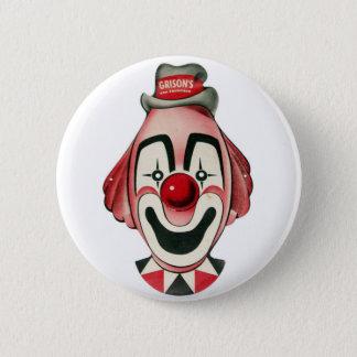 Kitsch Vintage Clown Face, Mask Button