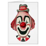Kitsch Vintage Clown Face, Mask Card