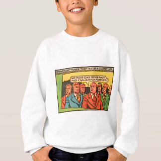 Kitsch Vintage Comic Bad Guys End Democracy Sweatshirt