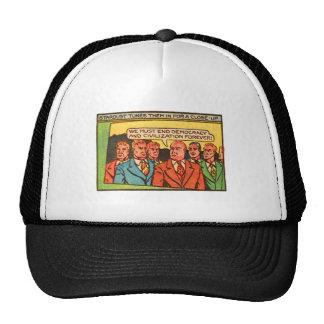Kitsch Vintage Comic Bad Guys End Democracy Trucker Hat