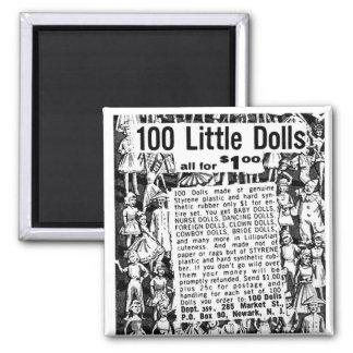 Kitsch Vintage Comic Book Ad 100 Little Dolls Magnet