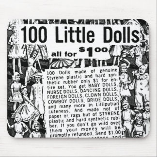 Kitsch Vintage Comic Book Ad 100 Little Dolls Mouse Pad