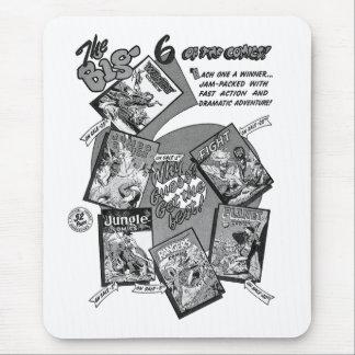 Kitsch Vintage Comic Book 'Big 6' Fiction House Mouse Pad