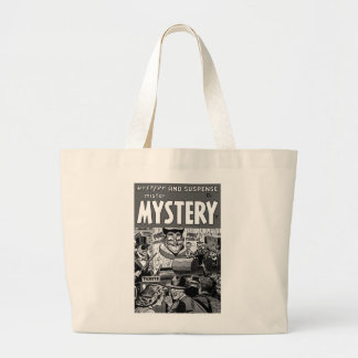 Kitsch Vintage Comic Book Mister Mystery Large Tote Bag