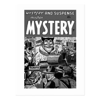Kitsch Vintage Comic Book Mister Mystery Postcard