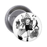 Kitsch Vintage Comic Book Teen Girl Pinback Buttons
