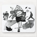 Kitsch Vintage Comic Book Teen Girl Mousepad