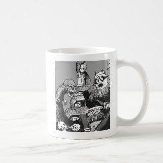 Kitsch Vintage Comic Cannibal Warriors Coffee Mug