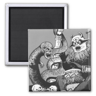 Kitsch Vintage Comic Cannibal Warriors Magnet