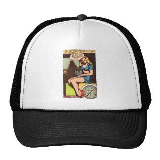 Kitsch Vintage Comic Girl Indicator is Active' Trucker Hat