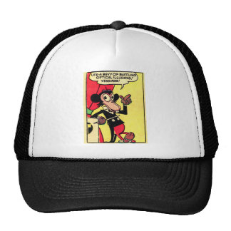 Kitsch Vintage Comic Humor Life- Bevy of Illusions Trucker Hat