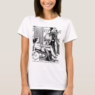 Kitsch Vintage Comic 'One-Eyed Girl'  Pin-Up T-Shirt