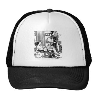 Kitsch Vintage Comic 'One-Eyed Girl'  Pin-Up Trucker Hat