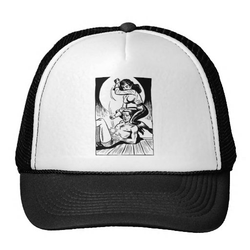 Kitsch Vintage Comic 'One Tough Chick' Girl Trucker Hat