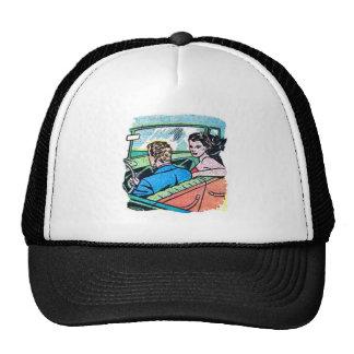 Kitsch Vintage Comic Road Trip Romance Trucker Hat