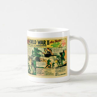 Kitsch Vintage Comic Toy Ad '126 WWII Soldiers!' Coffee Mug