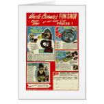 Kitsch Vintage Comic Toy Ad  'Uncle Bernie's' Card
