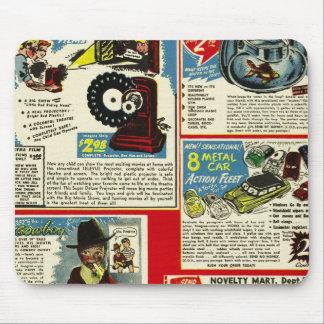 Kitsch Vintage Comic Toy Ad  'Uncle Bernie's' Mouse Pad